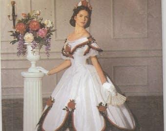 Southern Belle Gown Historical Civil War Era Reenactment Misses Size 14 - 16 - 18 - 20 Uncut Simplicity 5724