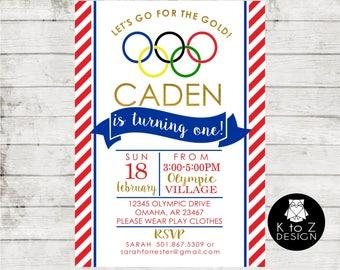 Olympic Gymnastics Birthday Party- Version 2/Gymmnastics Invitation /Olympic Party Invitation / Printable Invitation / Printed Invitations