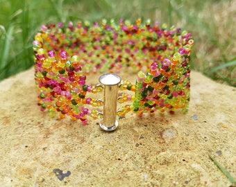 Summer pop cuff bracelet