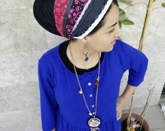 Non Wrap handmade Tichel,Sinar tichel,Mitpachat,tichel apron, jewish head covering,Just tie in the back by oshrataDesignz