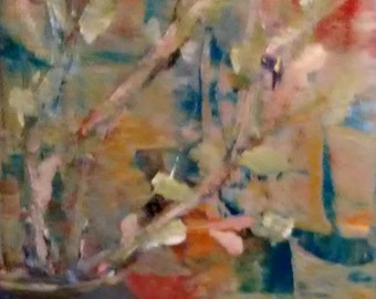 Abstract Still Life, Small Oil Painting