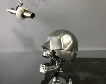 Vintage Dental Phantom with Stand Dental Manikin with Aluminum Fix teeth set Columbia Dentoform