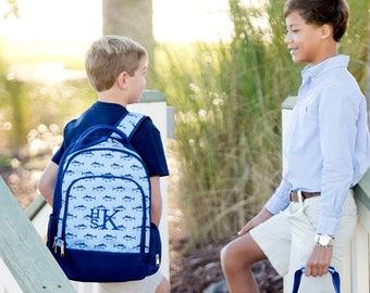 Boys Nautical Backpack, Monogram Included