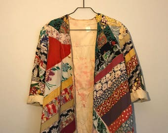 One of a kind 1970s Patchwork Quilt Jacket