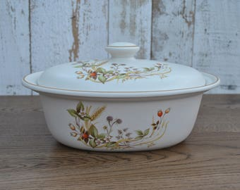 Vintage china deep covered tureen - Harvest pattern