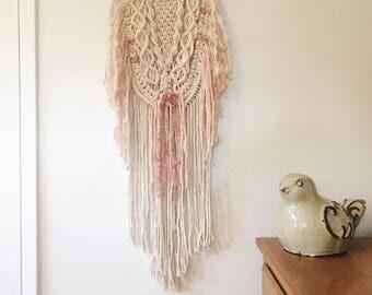 Macrame Layered Wall Hanging 100% Cotton Tapestry BOHO Luxury Yarn
