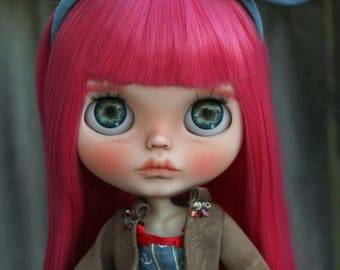 RESERVED - Danica - OOAK Custom Art Blythe Doll by Rainfable Dolls (2017)