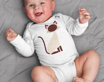 Siamese baby clothes, Siamese baby bodysuit, baby boy clothes, baby girl clothes