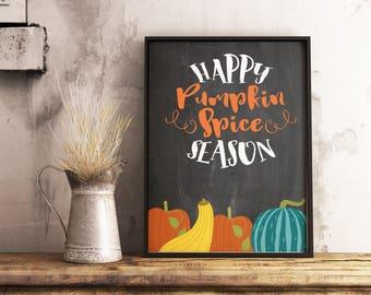 Pumpkin Spice Sign   Fall Wall Art   Pumpkin Decor   Fall Decor   Autumn  Decor