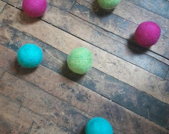 Wool dryer balls set of 8 Brightside  reusable chemical free alternative to dryer sheets Free Shipping in USA