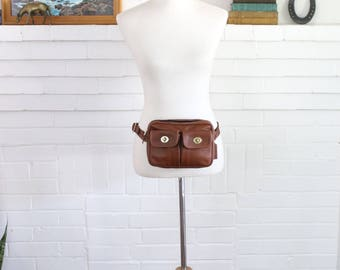 Vintage Coach Fanny Pack RARE // Waist Pack Bag in British Tan // Coach Bag