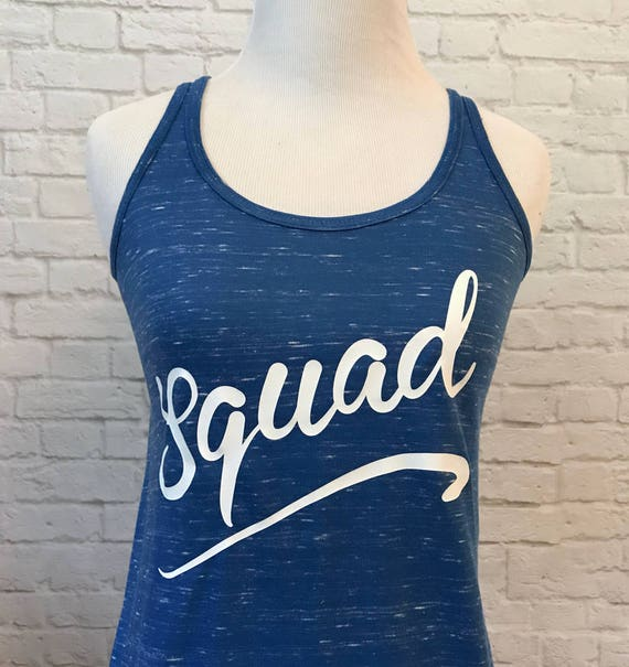 Squad Flowy Racerback Tank Top Great for a Group Event