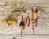 Lot of Vintage Fishing Lures - Ans B. Decker - Instant Collection  - Lake House or Cottage decor