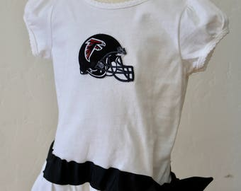 Size 2T Atlanta Falcons flounce dress