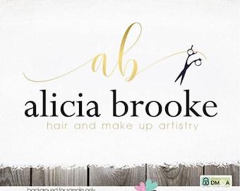 hairstylist logo salon logo make up artist logo hair stylist logo shears logo Hair Salon stylists logo designs