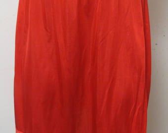 Vintage Red Half slip Deena  Small  #027