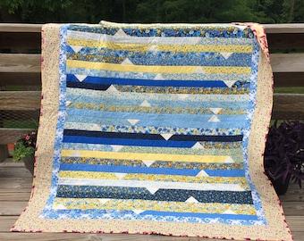 Handmade Lap Quilt Throw Picnic Blanket