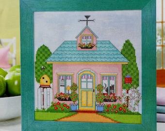 Cross Stitch Pattern | SPRING COTTAGE | Alma Lynne Hayden | Counted Cross Stitch Pattern | Chart | fam