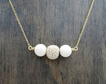 Lava Stone Essential Oil Diffuser Necklace Aromatherapy Necklace