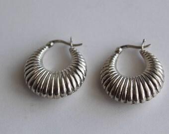 Sterling Silver Vintage Textured Earrings