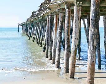 Beach Pier Photography, Fine Art Print, Beach Photography, Travel Photography, Ocean Photography