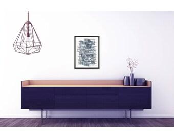 Large Abstract Art. Black and white Art Prints. Modern Art print. Home decor wall art. Large poster. Abstract black and white painting