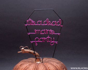 Halloween Cake Topper / Dead Mans Party / Halloween Party Decor / Halloween Cake / Custom Cake Topper / Halloween Decorations / Cake Topper