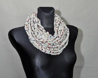 Crochet Scarf, Infinity Scarf, Grey Infinity Scarf, Crochet Infinity Scarf, Boho Crochet Scarf, Rope Scarf,