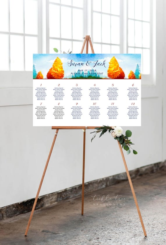 Seating Chart - Falling In Love (Style 0037)