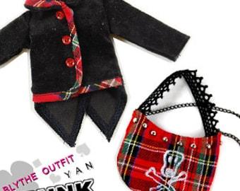 Clearance Sale - YAN - Skull Checker Bag for Blythe doll