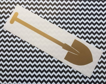 Golden Shovel vinyl decal -  Car decal, laptop decal, Dr. Amp, Dr Jacoby, Twin Peaks inspired, Cult TV, Lynch