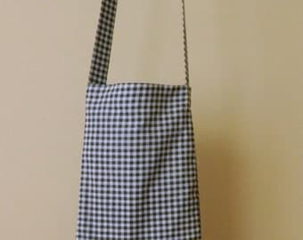Pay It Forward - Handmade Blue & White Check Syringe Driver Bag