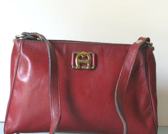 Vintage Etienne Aigner Oxblood Shoulder Bag Purse