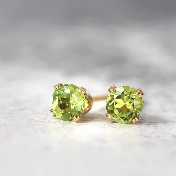 Peridot Earrings - August Birthstone Gift