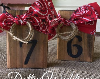 3 Wood Block Table Numbers Rustic Wedding Barn Wedding Venues