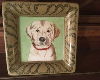 HAND PAINTED LAB plate
