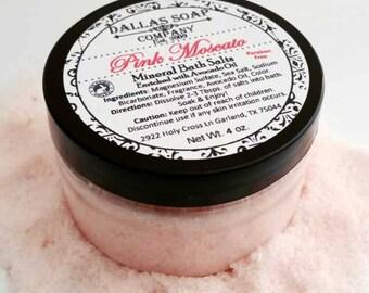 Pink Moscato Wine Mineral Bath Salts