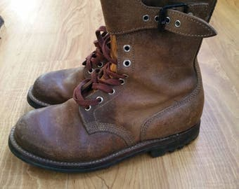 Vintage French Paratrooper Army Combat Boots Size 41 / UK7 / US9