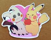 Pikachu & Mimikyu Pokemon Sticker