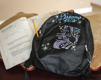 Small Unicorn Backpack for girls going back to school
