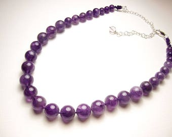 Amethyst jewelry, Amethyst necklace, Amethyst pendant, Healing crystals and stones jewelry, gemstone necklace,natural gemstones necklace