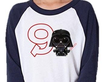 Iron on Star Wars shirt PDF - Star Wars Iron on Transfer / Star Wars Birthday Shirt / Disney shirt / kids Darth Vader shirt / kids shirt