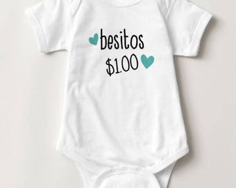 Besitos, DIGITAL FILE, besitos baby onesie design, valentine's day