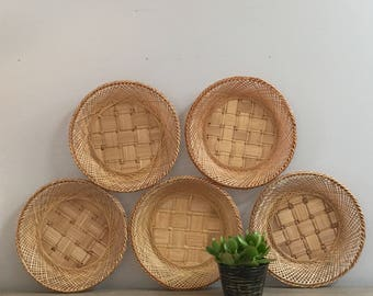 Wall Baskets Decor vintage wall basket | etsy