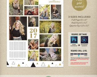 Senior Yearbook Ad Templates, Graduation Ad, High School, Middle School, College, Full Page, Half Page, Quarter Page, 2018, 2019 - Y1