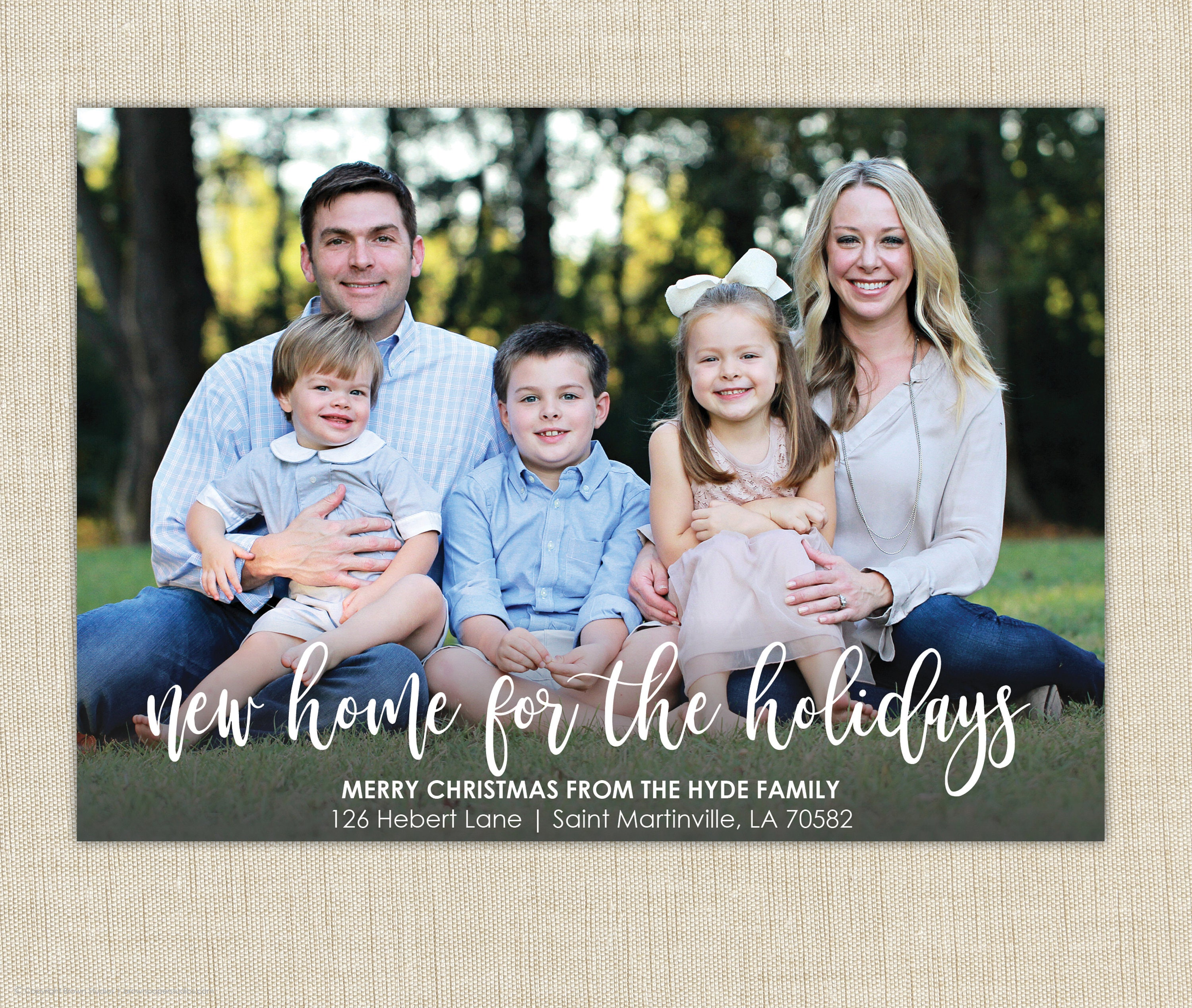 christmas moving announcement we ve moved christmas card new home
