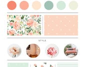 Peaches and Cream Bedding. Baby Bedding. Blush Baby Bedding. Floral Baby Bedding. Crib Sheet. Crib Skirt. Nursing Pillow Cover.