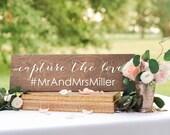 Wedding Hashtag Sign Wood, Help Us Capture the Love Sign, Wooden Hashtag Sign, Share the Love Sign, Oh Snap Sign, Hashtag Sign Wooden rustic