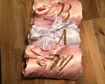 SATIN GLITTER ROBE - Bridesmaid Robe - Bling Robe - Glitter Robes - Bridal Bling Robes - Glitter Wedding Robe - Bridal Party Robes