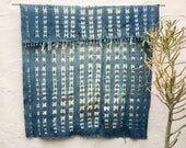 Vintage African Textile   African indigo blanket Indigo Textile Indigo Mudcloth African Mudcloth Indigo Cloth Beach Blanket tribal fabric 81